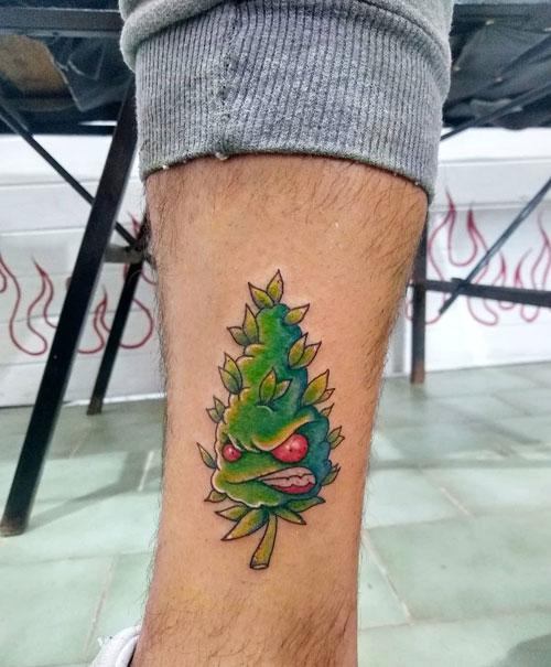 cannabis tatuaje