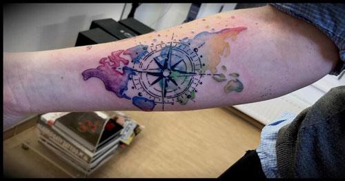 mapa tatuaje
