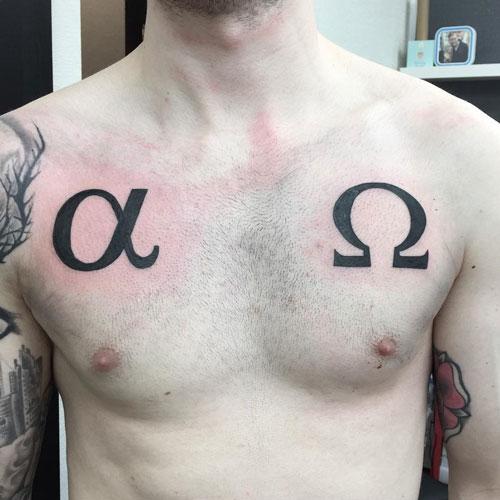 tattoo alpha y omega
