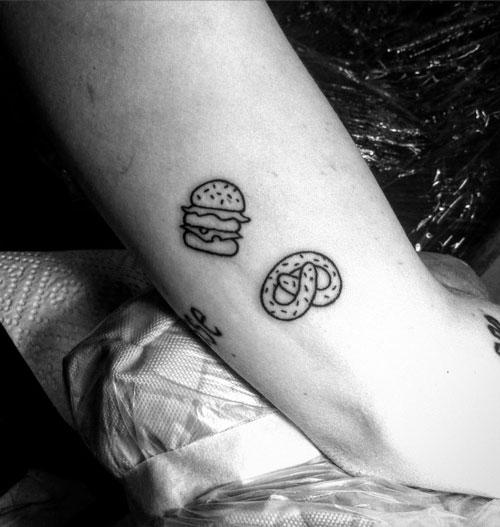 tattoo burger pretzletattoo