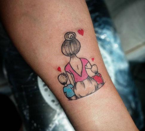 tattoo color mama 2 hijos