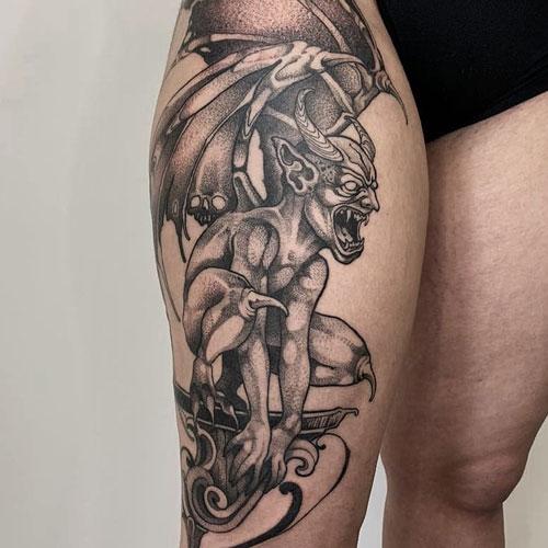 tattoo de una gargola
