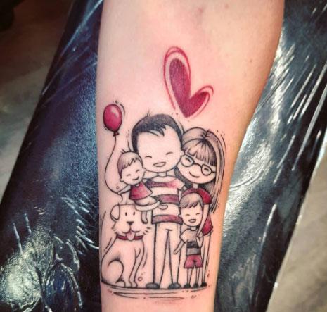 tattoo famiia completa