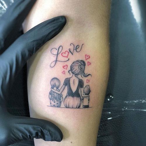 tattoo madre e hijos