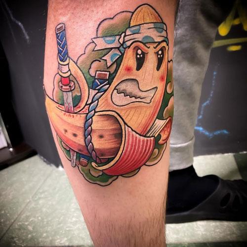 tattoo platano samurai