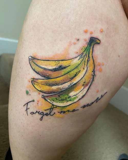 tatuaje acuarela platanos