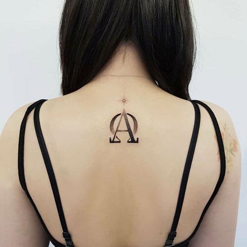 Tatuajes alfa y omega