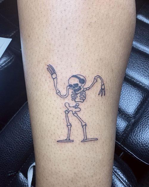 dance tattoo esqueleto