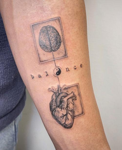 tatuaje de balance