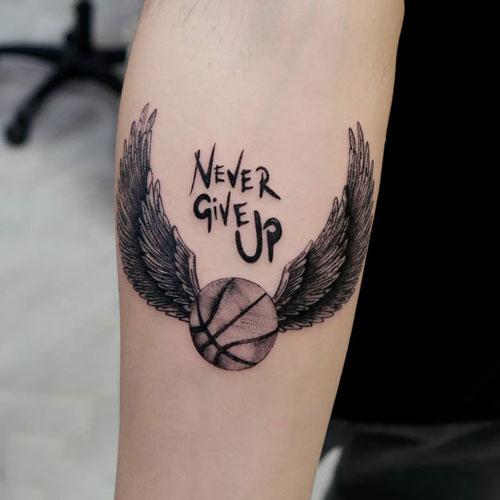tatuaje de baloncesto