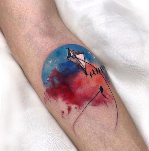 tatuaje de paplote a color