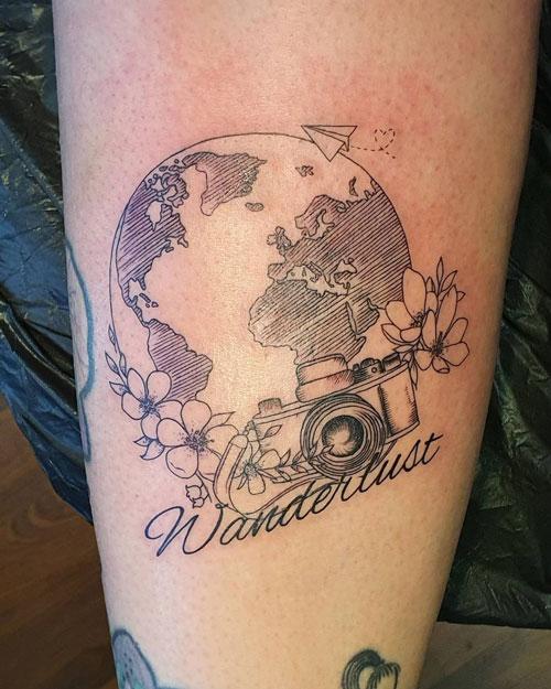 tatuaje del mundo