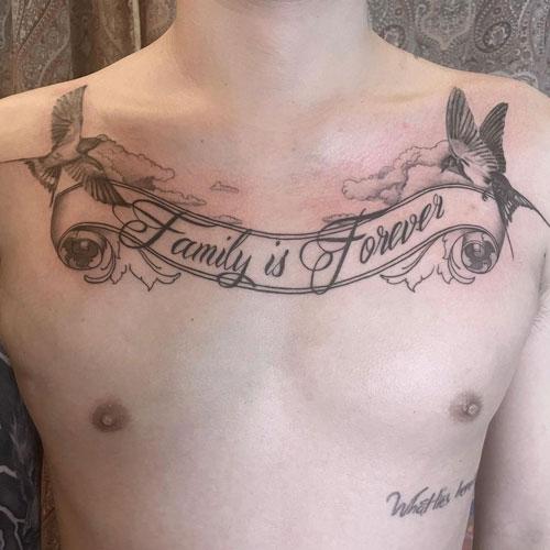 tatuaje la familia es para siempre