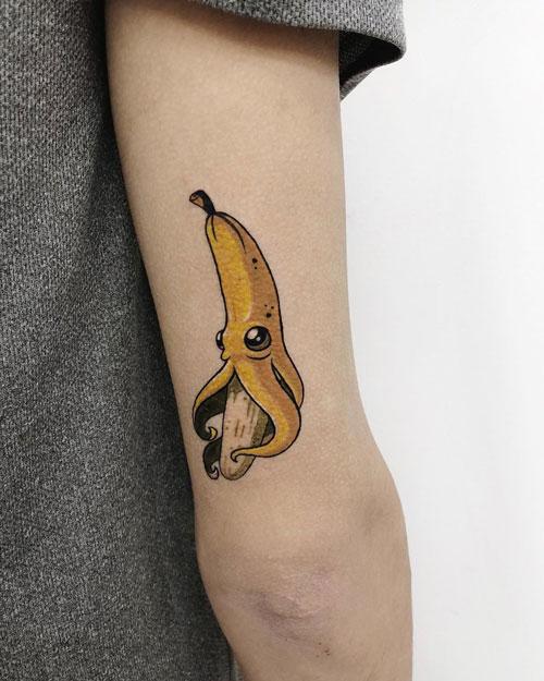 tatuaje platano pulpo
