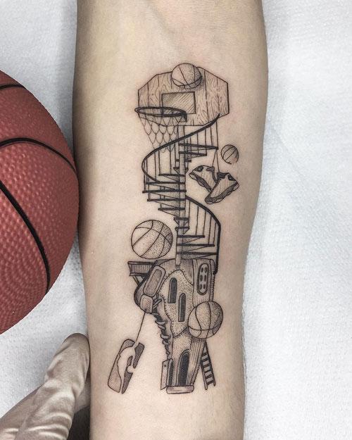 tatuaje tablero basquet