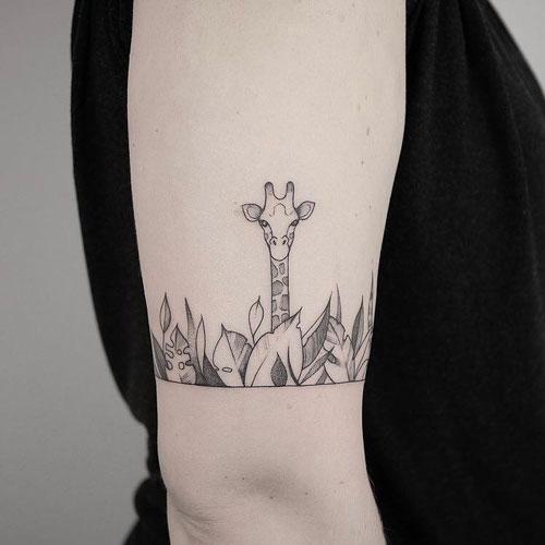 tatuajes de jirafas