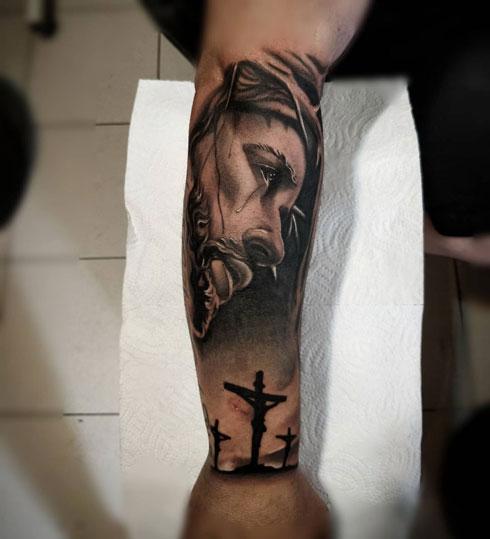 cristo tatuaje