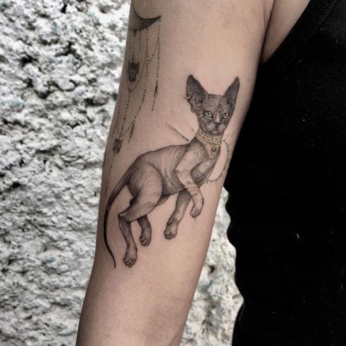 gato egipcio en tattoo