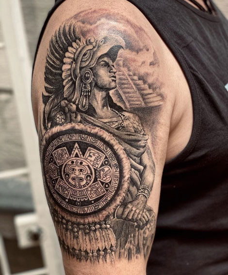 Tatuajes de Guerreros Aztecas
