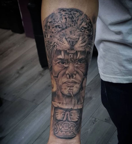 tatuaje guerrero jaguar