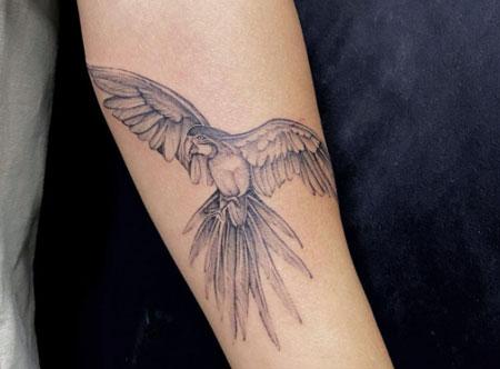 loro en gris tattoo