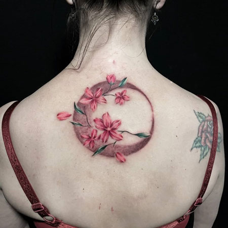 luna y flores tattoo