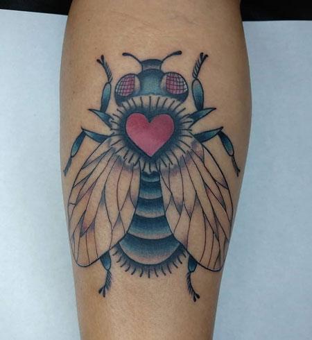 oldschool tattoo de mosca