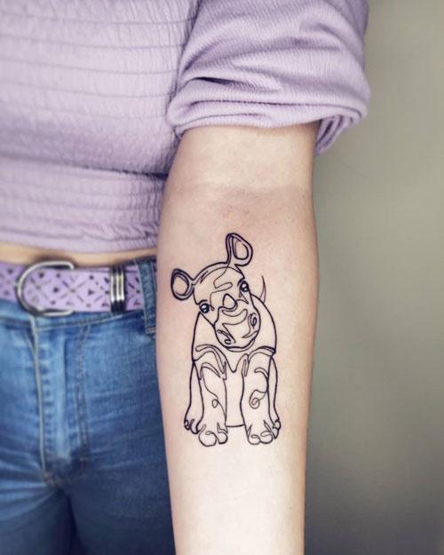 rinoceronte bebe tatuaje