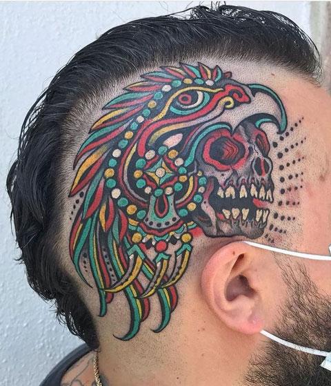 tattoo a color guerrero aguila