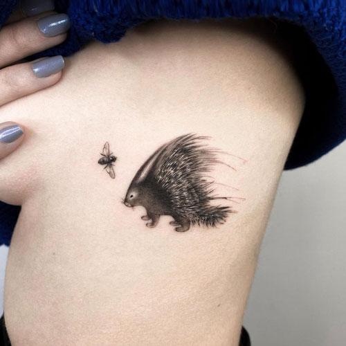 tattoo blackwork puercoespin