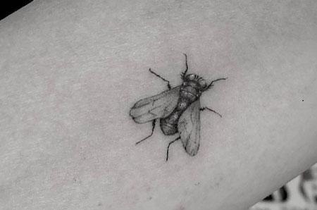 tattoo chiquito de mosca