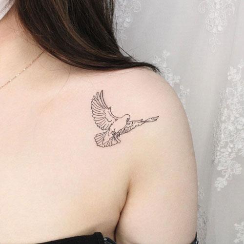 tatouage de colombe