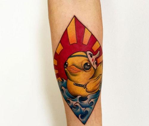 Gummiente Tattoo