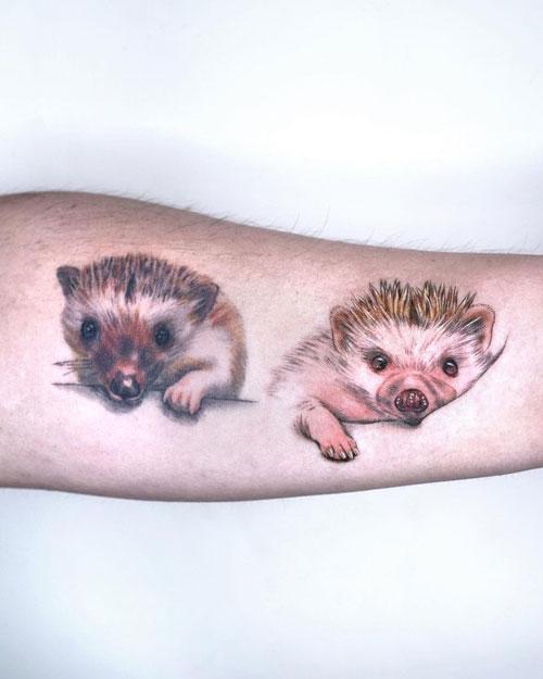tatuaje 2 erizos