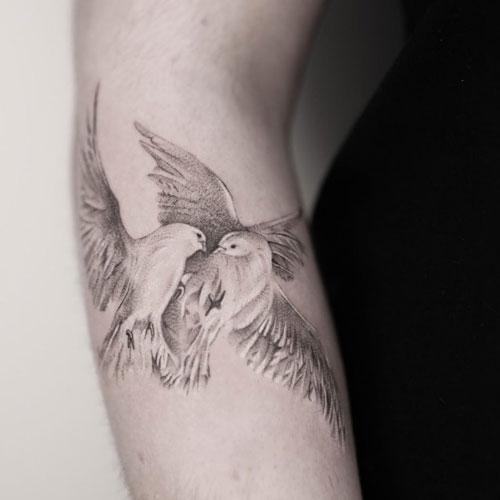 tatuaje 2 palomas