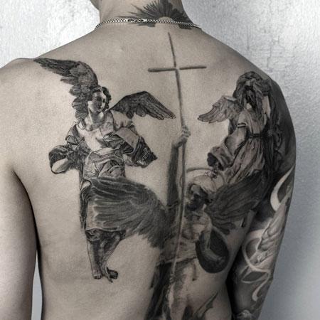 tatuaje de angeles