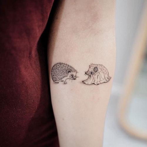 tatuaje de erizos