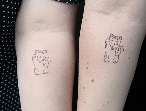 tatuaje de gato parejas