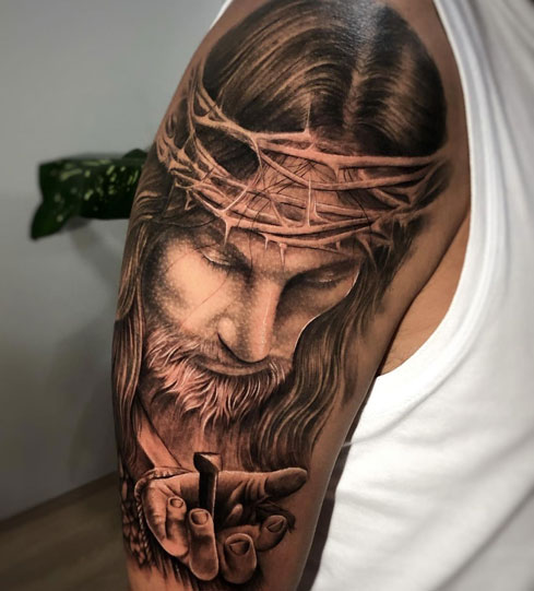 tatuaje de jesus cristo