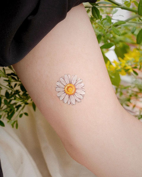 Tatuajes de Flor de Margarita