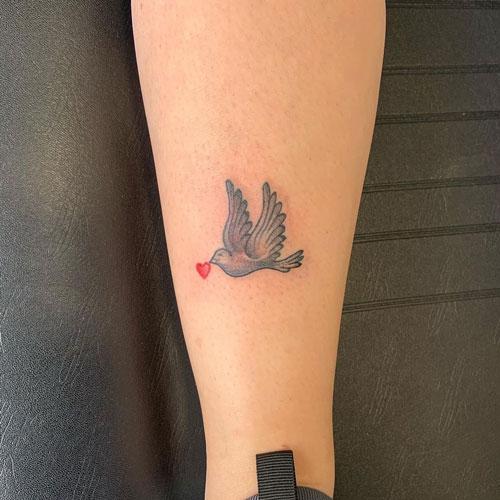 tatuaje palama y corazon