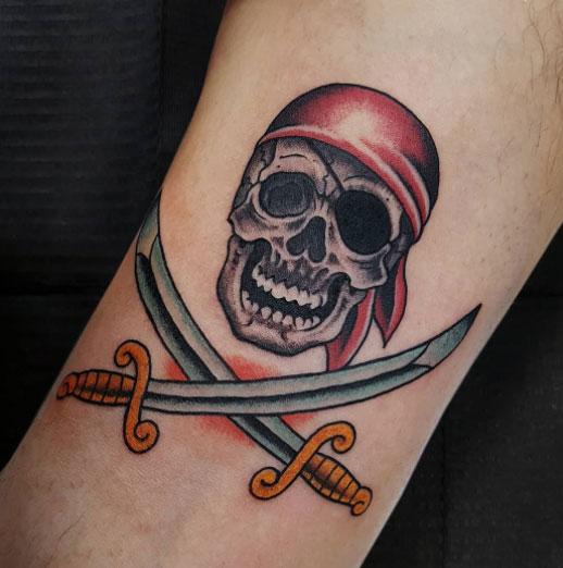 Tatuajes de Bandera Pirata