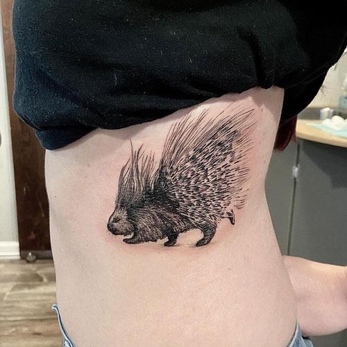 Tatuajes de Erizo y Puercoespin