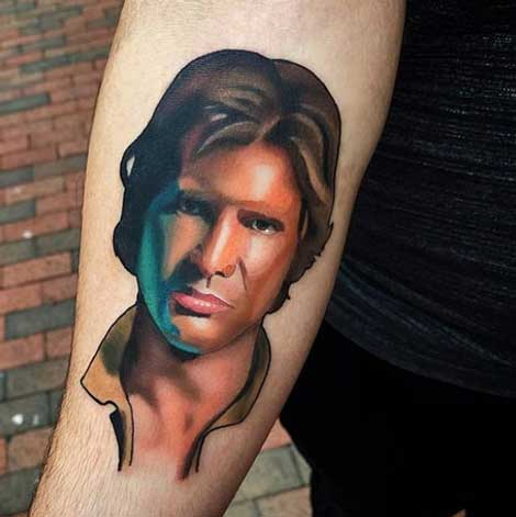 Tatuaje de Han Solo