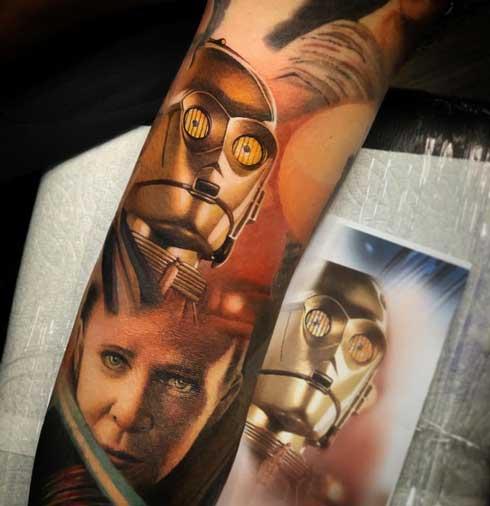 c3po tattoo