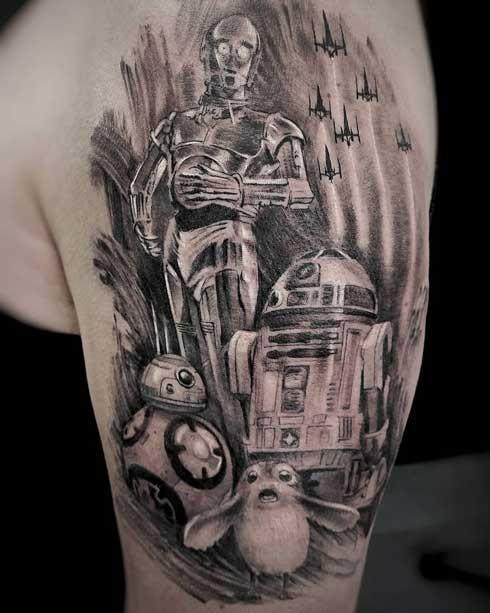 droides star wars tatuaje