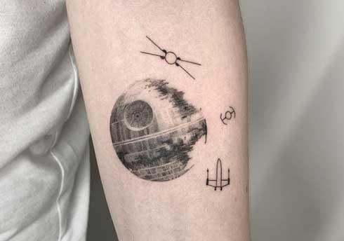 estrella de la muerte tattoo
