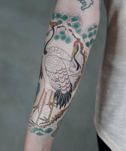 grullas tattoo