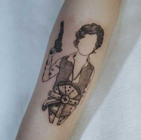 halcon milenario tattoo