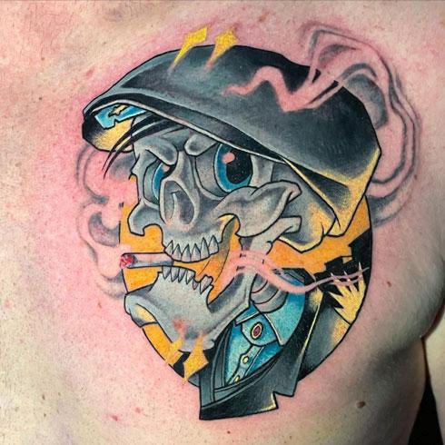 new school tatuaje de peaky blinder